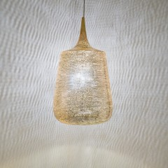 HANGING LAMP TRP FLSK GOLD PLATED