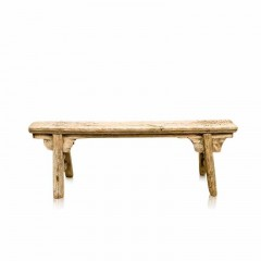 BENCH ANTIQUE NATURAL WOOD   - BENCHES