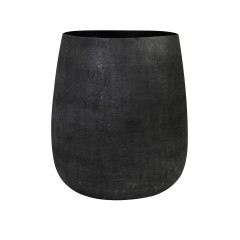 METAL POT MATT BLACK 40      - POTS, VASES, PLATES