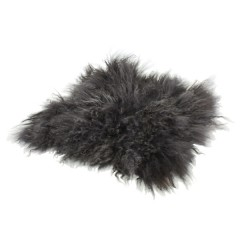 LAMB FUR CHAIR PAD GRAY