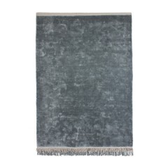RUG VELVET TOUCH BLUE-GREY VISCOSE
