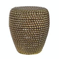 STOOL DOT BRASS