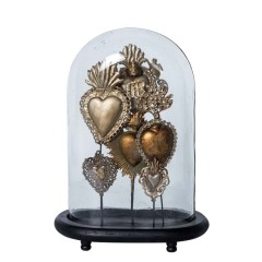 OVAL GLASS DOME EX VOTO