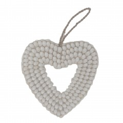 SHELL HEART WHITE PLAIN