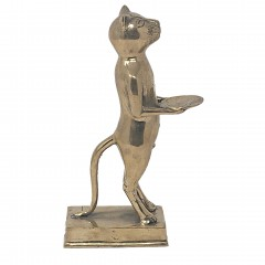 CAT TRAY BRASS GOLD COLORED - BRONZE STATUES