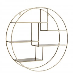 IRON SHELF ROUND BRASS