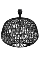 LAMP BASE FLAT WIRE BLACK AND G2LL LAMP SHADE PALM