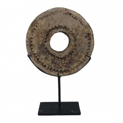 STONE COIN ON STAND