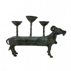 HOLY COW CANDLE HOLDER ANTIQUE BRONZE COLOR    - CANDLE HOLDERS