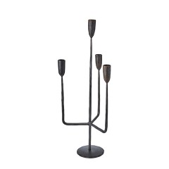 METAL CANDELHOLDER KING4    - CANDLE HOLDERS