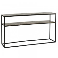 CONSOL TABLE  ANTIK SILVER METAL