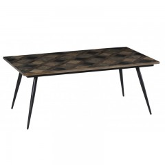 DINING TABLE BROWN TOP CUBE
