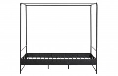 BED FRAME BUNK BLACK METAL DOUBLE - BED, BED BACK