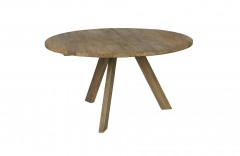 DINING TABLE OLD ELMWOOD NATURAL 3 LEGS