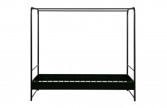 BED FRAME BUNK BLACK METAL SINGLE - BED, BED BACK