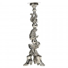HOME DECO SILVER SHOE ANIMAL CANDLEHOLDER 60    - CANDLE HOLDERS