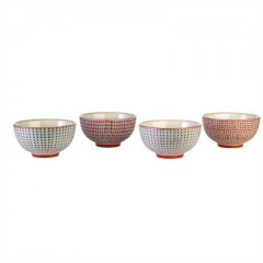 BOWLS RED      - POTS, VASES, PLATES
