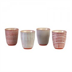 CUP RED      - POTS, VASES, PLATES