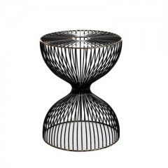 WIRE STOOL DARK BROZE 45