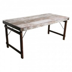 MARKET FOLDING DINING TABLE      - CONSOLS, DESKS