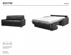 Boston Sofa Bed Leather - SOFA BEDS
