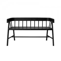 Bench Teak Painted Black   - BENCHES