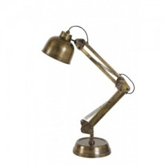 DESK LAMP ANTIQUE BURNED BRONZE     - TABLE LAMPS