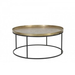 COFFEE TABLE ANTIQUE GOLD
