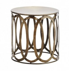 GOA BRASS COFFEE TABLE     - CAFE, SIDETABLES